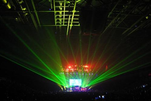 lasers at Rush