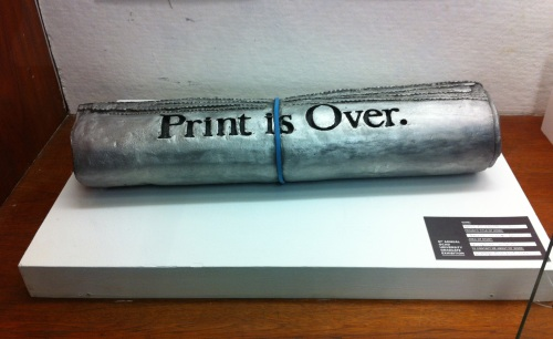 print is over