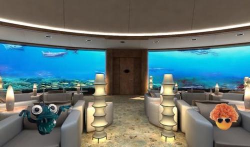 underwater hotel lobby